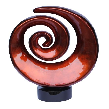 Talia Design 17 Inch Deco Swirl Sculpture