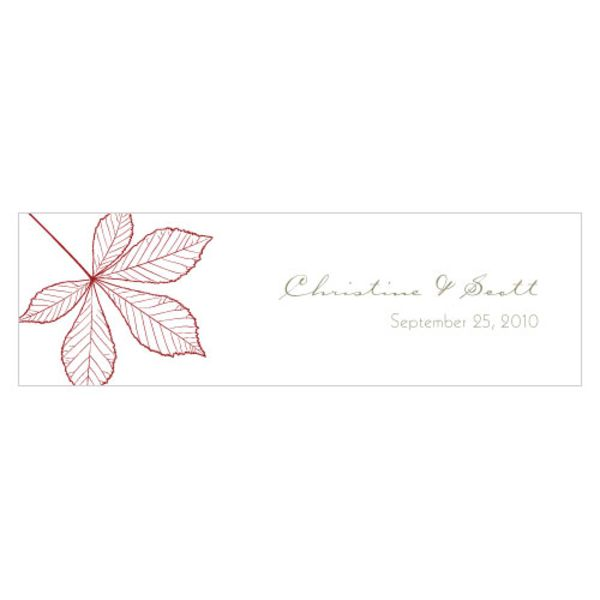 Autumn Leaf Small Rectangular Tag Ruby
