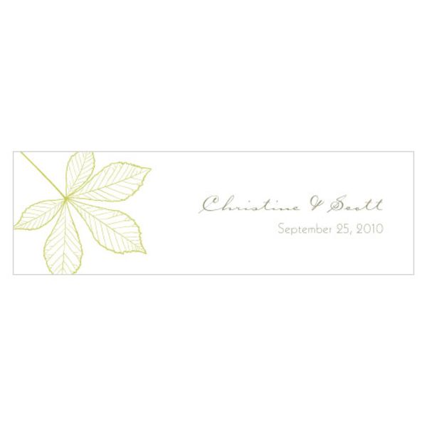Autumn Leaf Small Rectangular Tag Leaf Green
