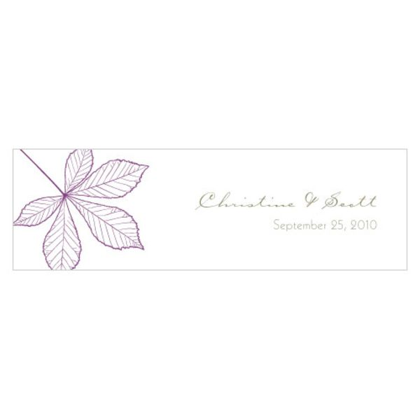 Autumn Leaf Small Rectangular Tag Plum