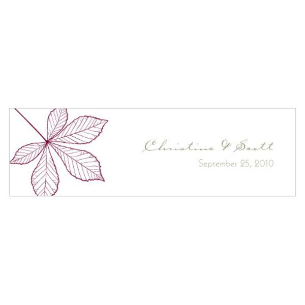 Autumn Leaf Small Rectangular Tag Berry