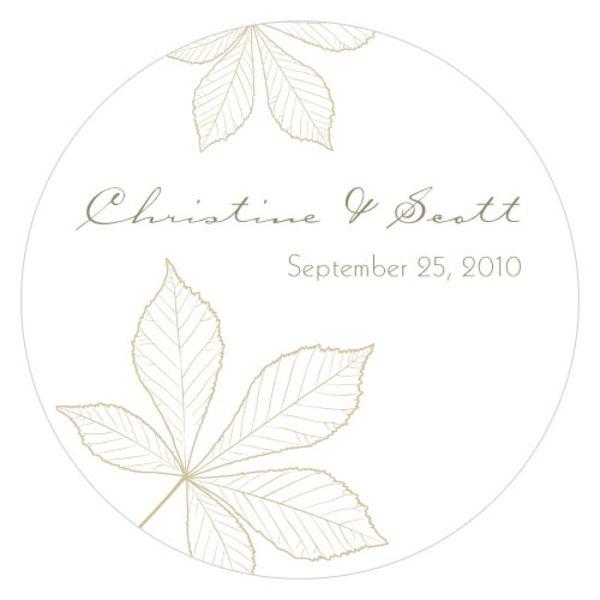 Autumn Leaf Large Sticker Sandy Grey