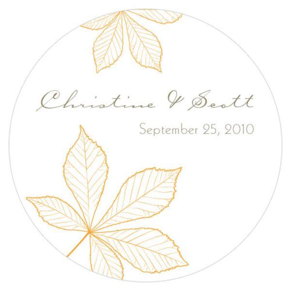 Autumn Leaf Large Sticker Harvest Gold