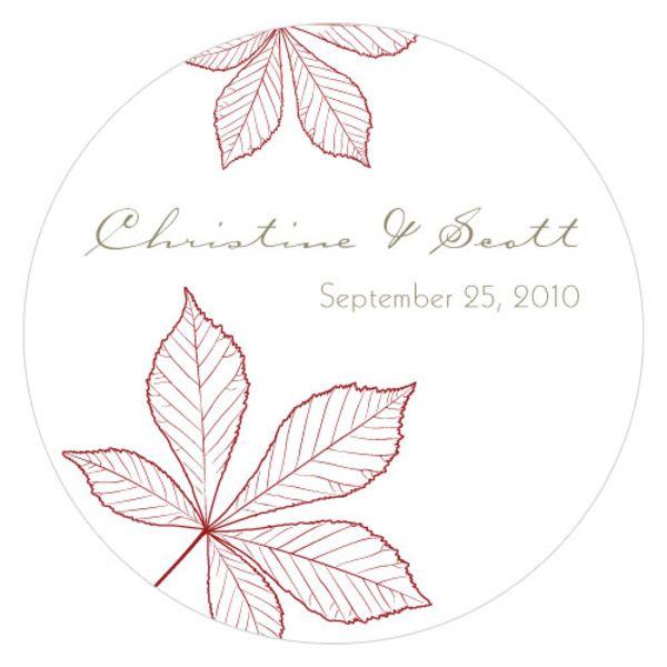 Autumn Leaf Large Sticker