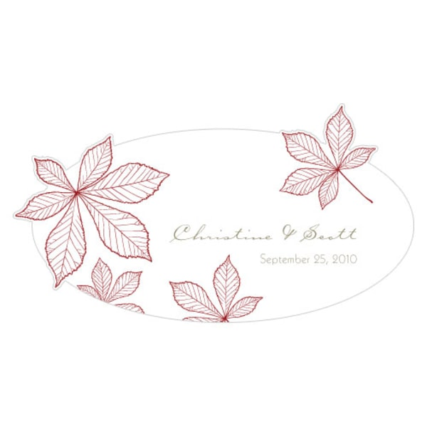 Autumn Leaf Small Cling Ruby
