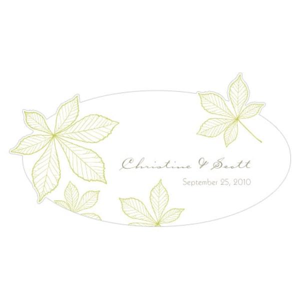 Autumn Leaf Small Cling Leaf Green
