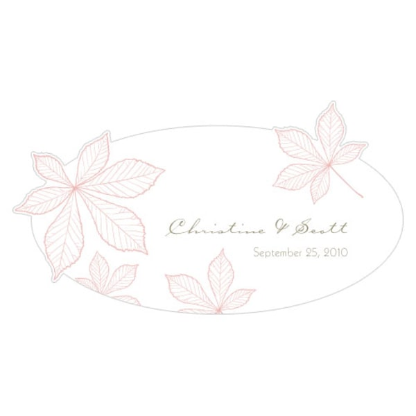 Autumn Leaf Small Cling Vintage Pink