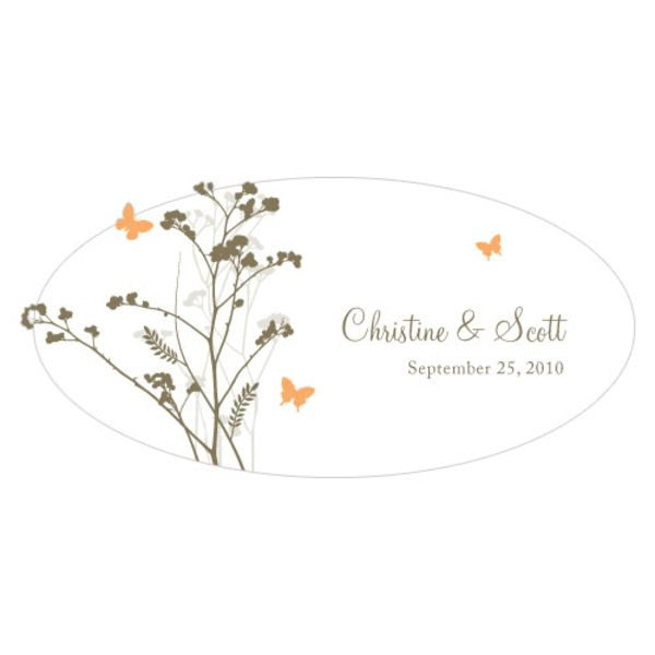 Romantic Butterfly Large Cling Peach