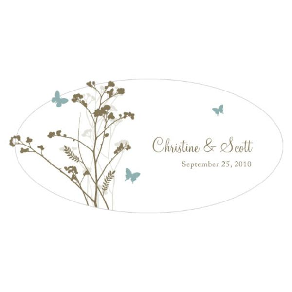 Romantic Butterfly Large Cling Powder Blue