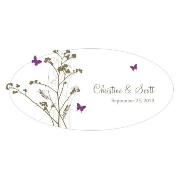 Romantic Butterfly Large Cling Plum