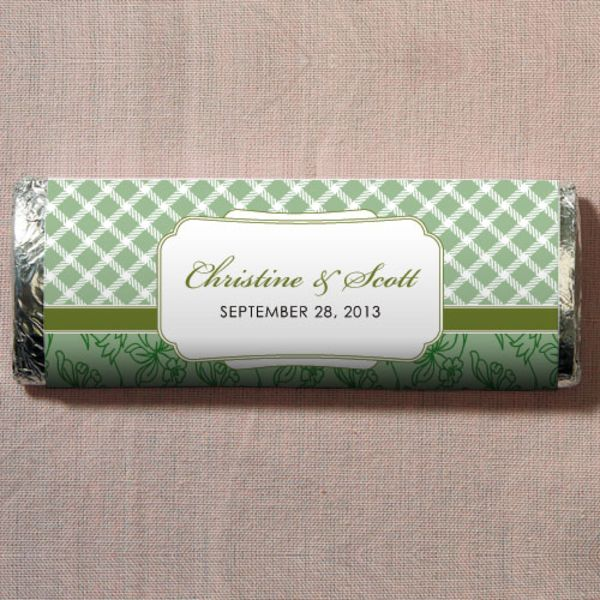 Eclectic Patterns Nut Free Gourmet Milk Chocolate Bar Classical Green