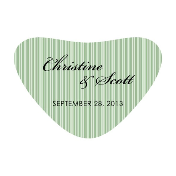 Eclectic Patterns Heart Container Sticker Classical Green