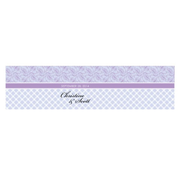 Eclectic Pattern Cube Favor Box Wrap Lilac