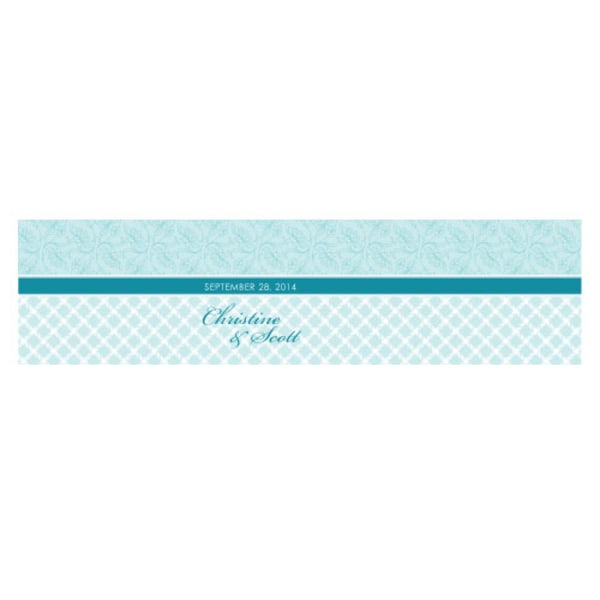Eclectic Pattern Cube Favor Box Wrap Sea Blue