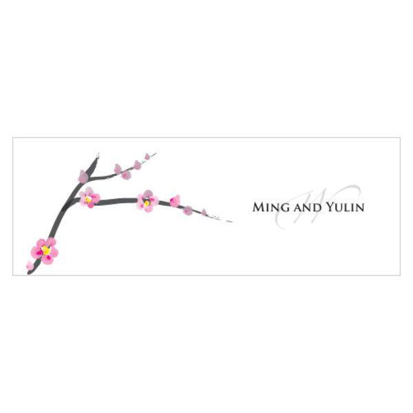 Cherry Blossom Small Rectangular Tag