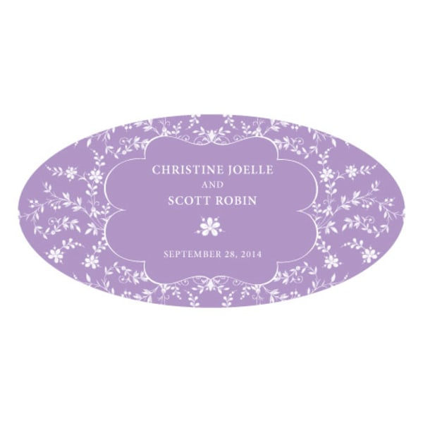 Forget Me Not Large Cling Lavender