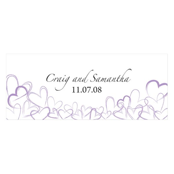 Contemporary Hearts Small Cling Lavender