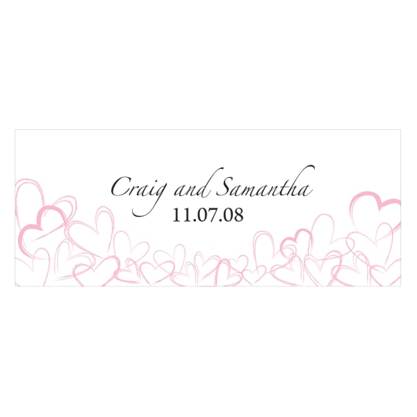 Contemporary Hearts Small Cling Pastel Pink