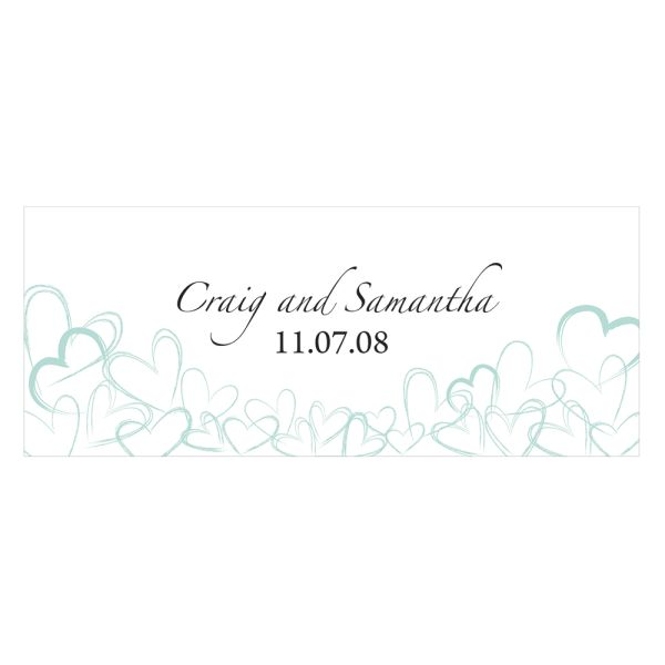 Contemporary Hearts Small Cling Teal Breeze