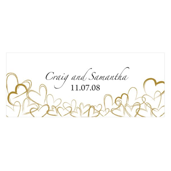 Contemporary Hearts Small Cling Vintage Gold