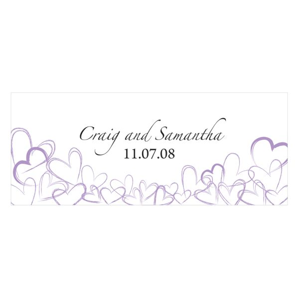 Contemporary Hearts Large Cling Lavender