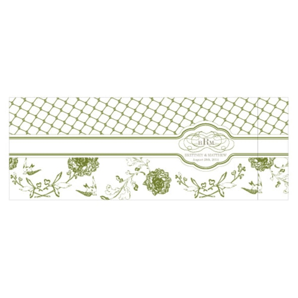 Floral and Trellis Notepad Wedding Favor Pastel Blue