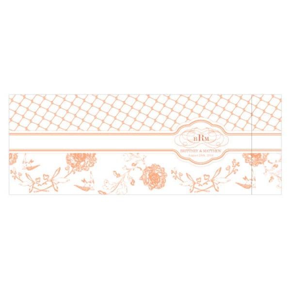 Floral and Trellis Notepad Wedding Favor Willow Green