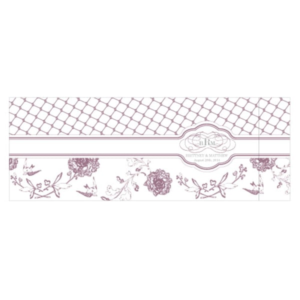 Floral and Trellis Notepad Wedding Favor Navy Blue