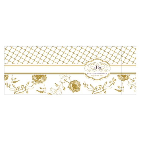 Floral and Trellis Notepad Wedding Favor Victorian Purple