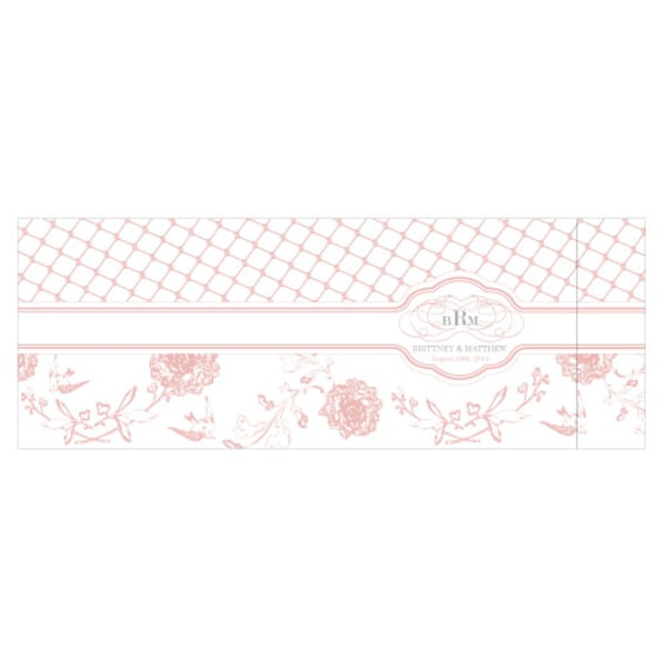Floral and Trellis Notepad Wedding Favor Vintage Gold