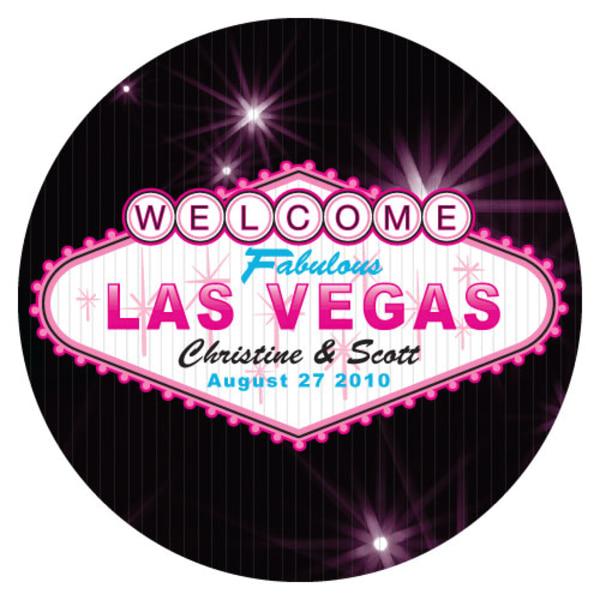 Las Vegas Large Sticker Dark Pink