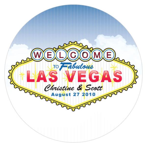 Las Vegas Large Sticker Lemon Yellow