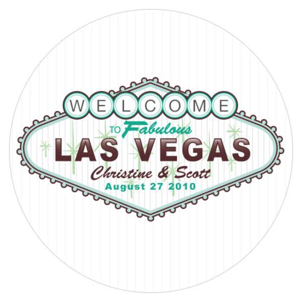 Las Vegas Large Sticker Bright Green