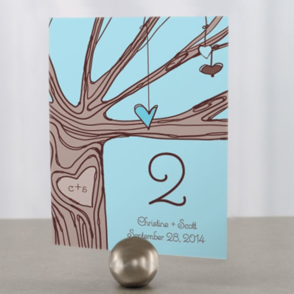 Heart Strings Table Number