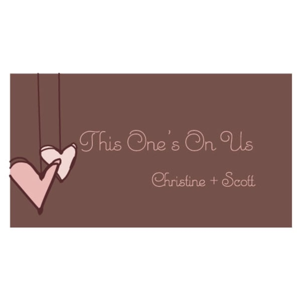 Heart Strings Small Ticket Vintage Pink
