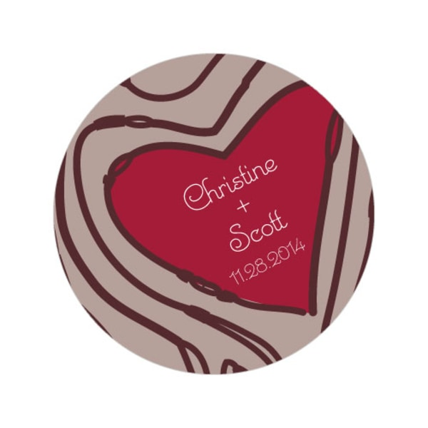 Heart Strings Large Sticker Ruby