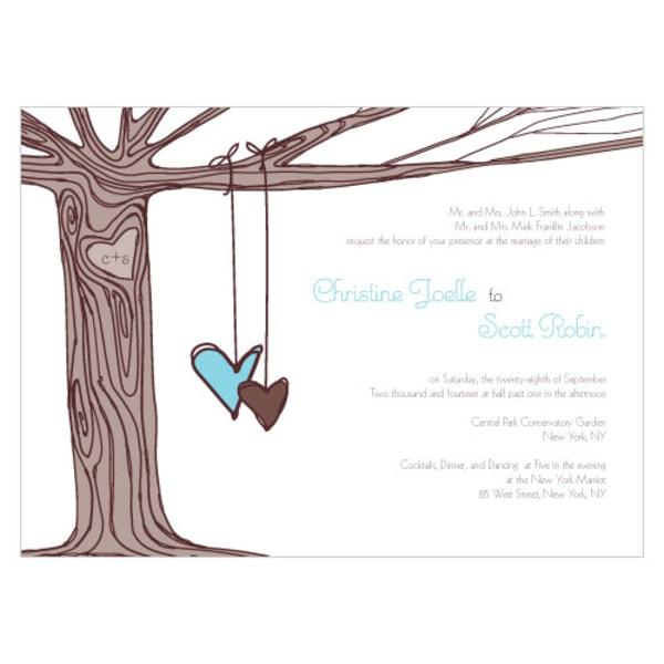 Heart Strings Invitation