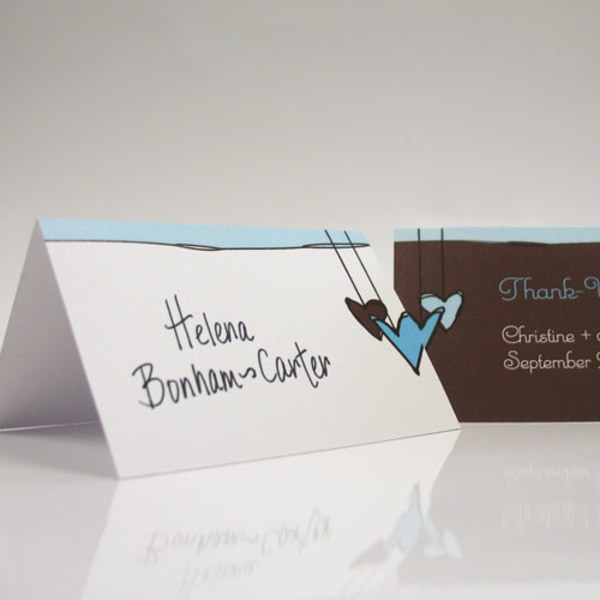 Heart Strings Place Card With Fold