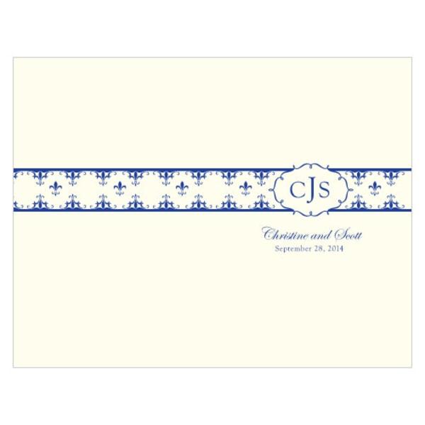 Fleur De Lis Program Royal Blue