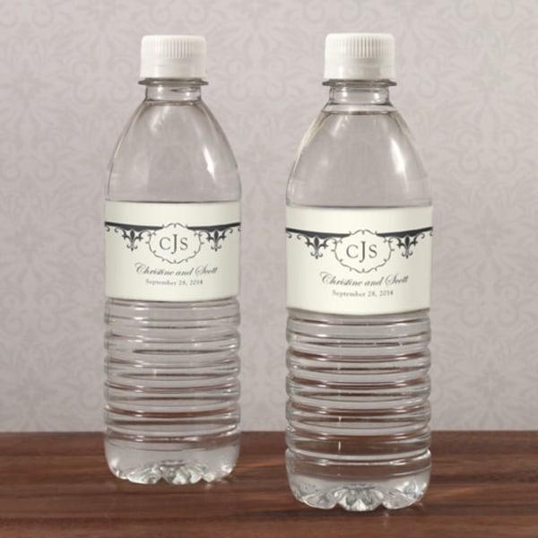 Fleur De Lis Water Bottle Label