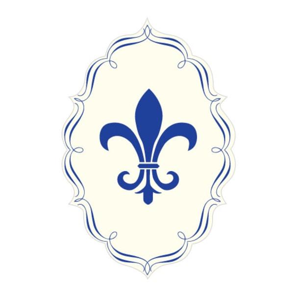 Fleur De Lis Diecut Sticker Royal Blue