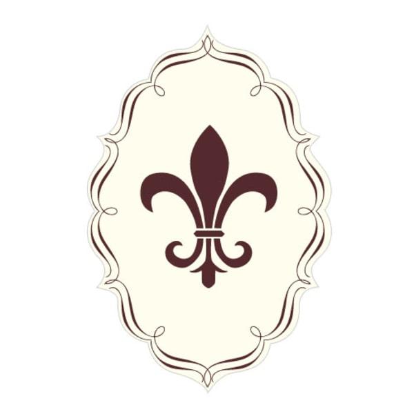 Fleur De Lis Diecut Sticker Chocolate Brown