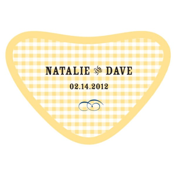 Plaid Heart Container Sticker