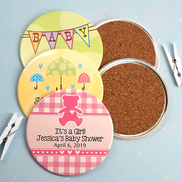 1593100--Personalized Two Sided Baby Shower Coasters