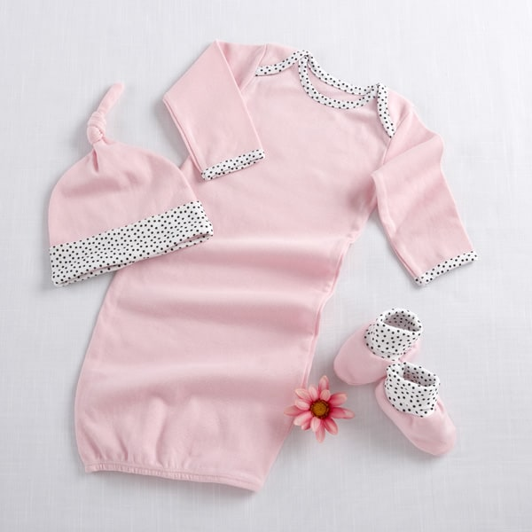 BA16009PK-Welcome Home Baby! 3 Piece Layette Set In Keepsake Gift Box--Pink-