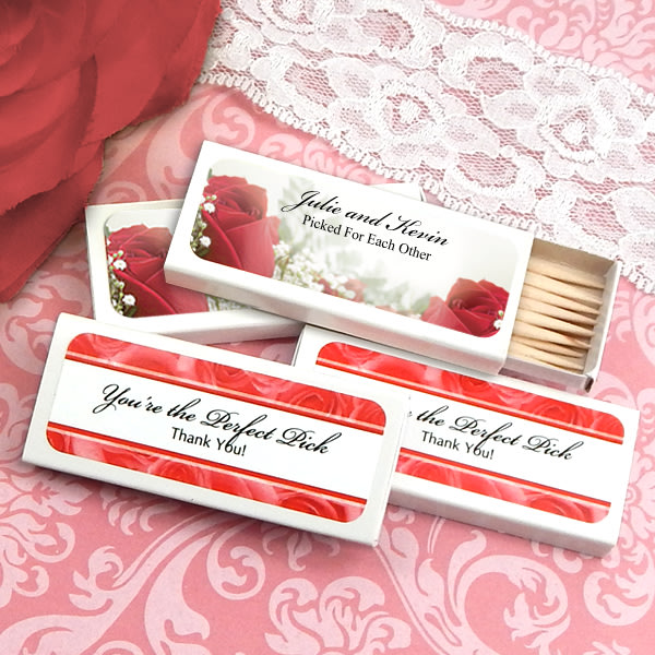 1907000--Personalized Wedding Toothpicks Set Of 50