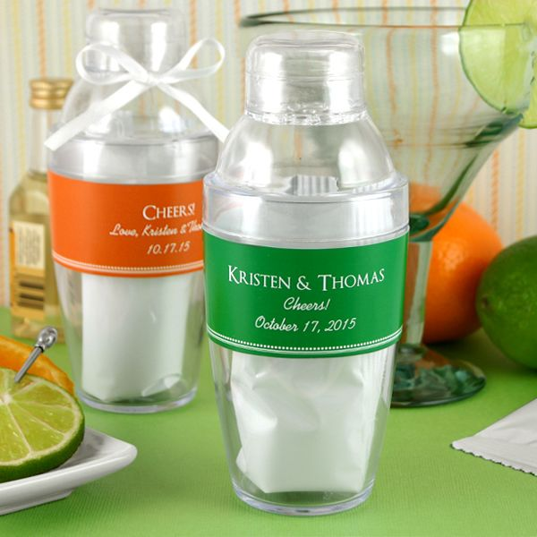 2134100--Personalized Cocktail Shaker With Margarita Mix