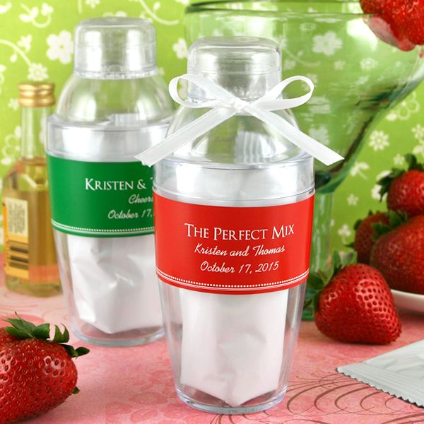 2144100--Personalized Cocktail Shaker With Strawberry Daiquiri Mix