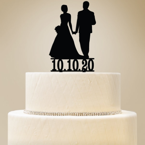 2519015--Personalized Bride & Groom Cake Topper