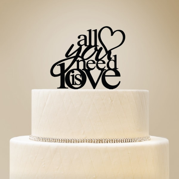 2519023--All You Need Is Love Cake Topper